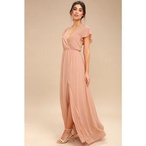 Blush Dusty Rose Maxi Dress